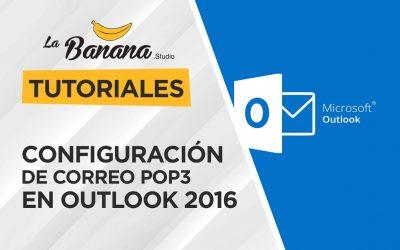 Configuración de correo POP3 en Outlook 2016