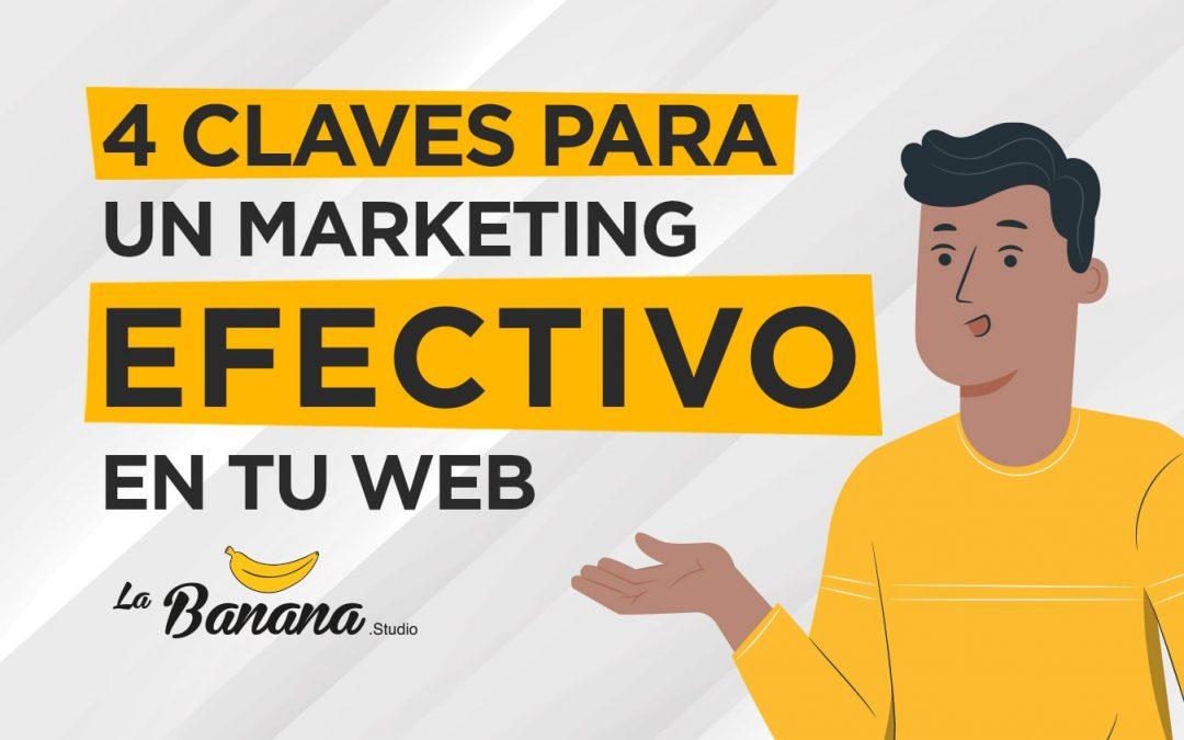 4 claves para un marketing efectivo en tu sitio web
